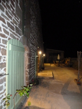 Outside Bunk Barn at Night